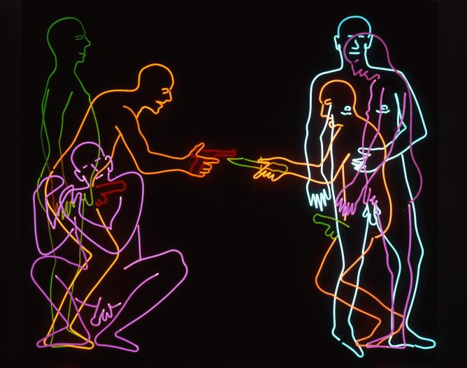 'Sex and Death', Bruce Nauman, 183 x 244 x 29 cm