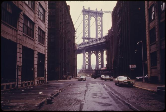 Manhattan Bridge Seen From Brooklyn ® Danny Lyon 1942