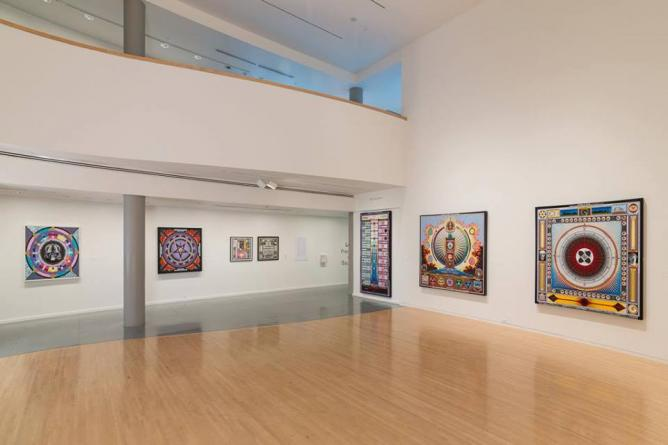 Paul Laffoley, exhibition view   Courtesy of Henry Art Gallery
