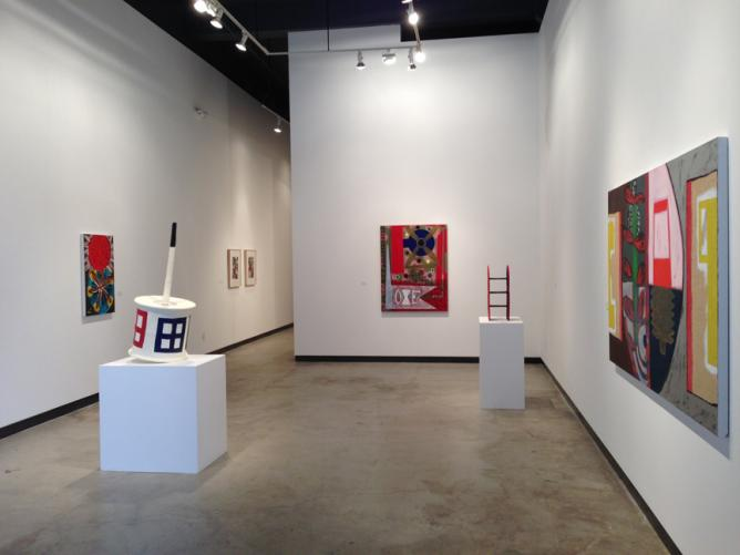 Roy Dowell, installation view, 2013   Courtesy James Harris Gallery