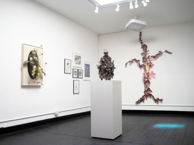 Casey Curran, Tony Sonnenberg, Izzie Klingels, Katy Stone, installation view | Courtesy LxWxH and the artists