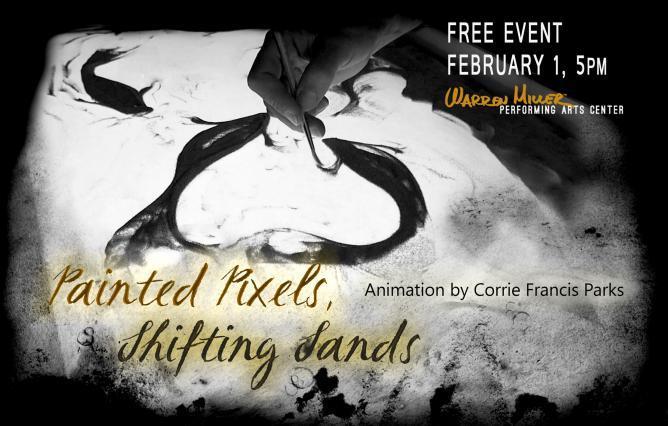 Painted Pixels, Shifting Sands, Corrie Francis Parks Exhibition