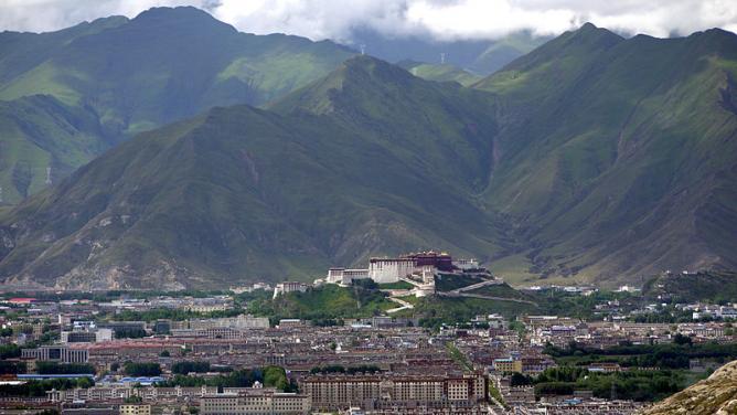 Lhasa from the Pabonka Monastery