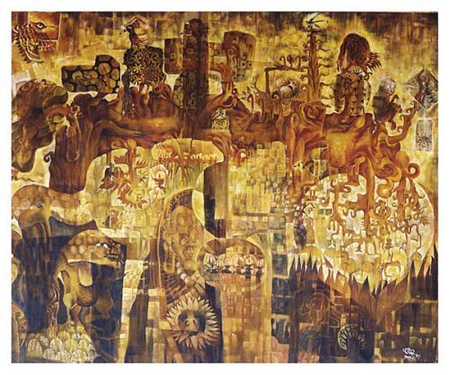 Tsering Namgyal, 'Bhardo 1', 160x150cm, GC Art Yard, 2003 | Courtesy of GC Art Yard and the artist