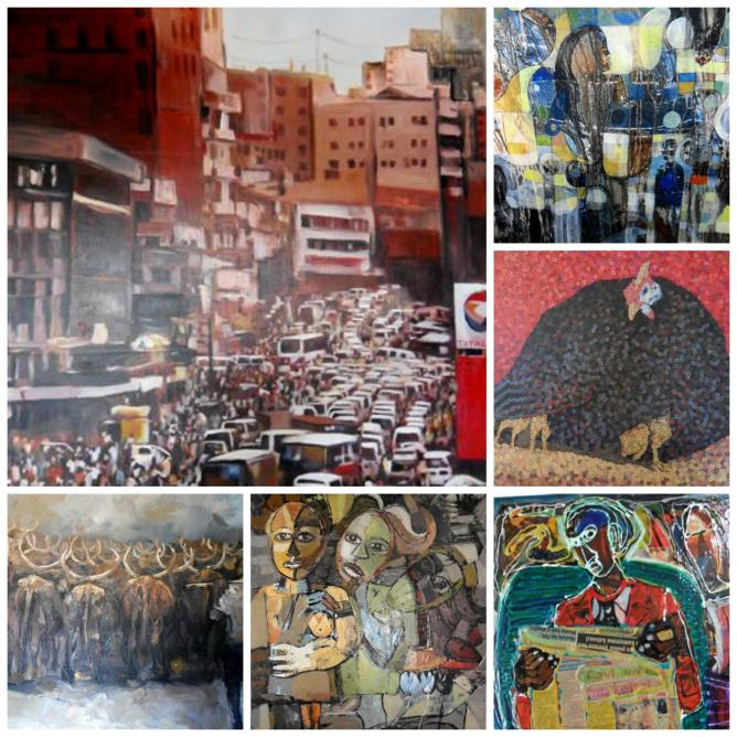 A selection of artworks from Afriart Gallery