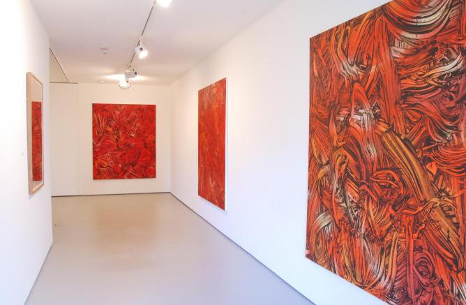 Bartley and Company Art_Judy Millar, 2014, Red Red Orange