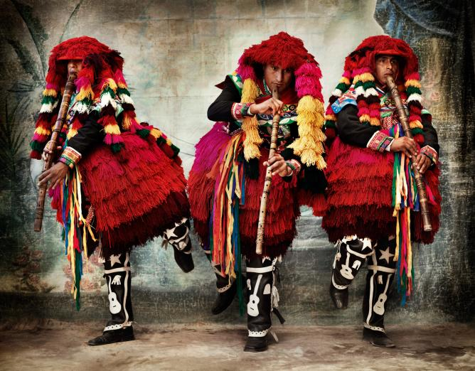 Costumes for the Carnival of Ccatcca. District of Ccatcca, province of Quispicanchi, Cusco, Peru