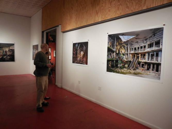 """At the """"French Masters"""" and """"Lori Nix: The City"""" reception 