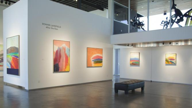LEWALLEN Ronnie Landfield, After the Rain, Exhibition View, 2013, Image courtesy of LewAllen Contemporary