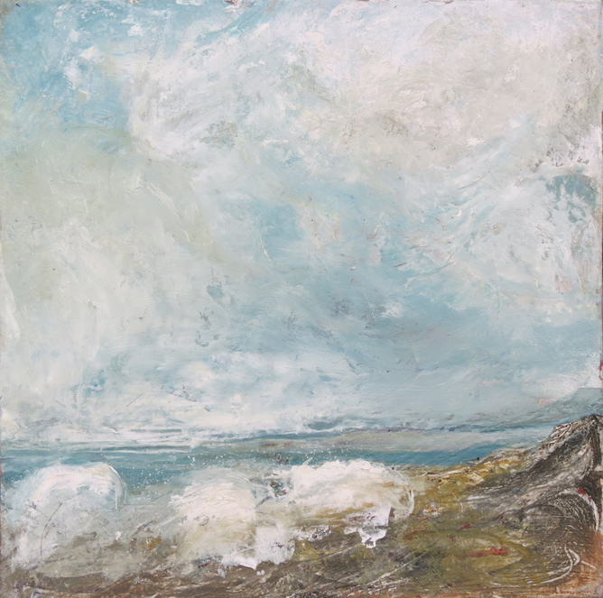 Elisabeth Piquet, Ciel et Mer, 12x12cm, Image courtesy of Savannah Gallery