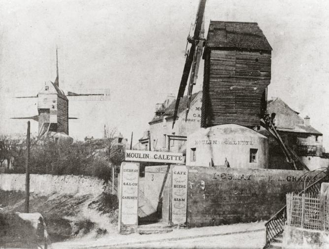 Historical photograph, Montmartre, Entrance of Le Moulin de la Galette, 1900 Collection Société d'Histoire Le Vieux Montmartre   Image courtesy of Esprit Montmartre at the Schirn Kunsthalle Frankfurt