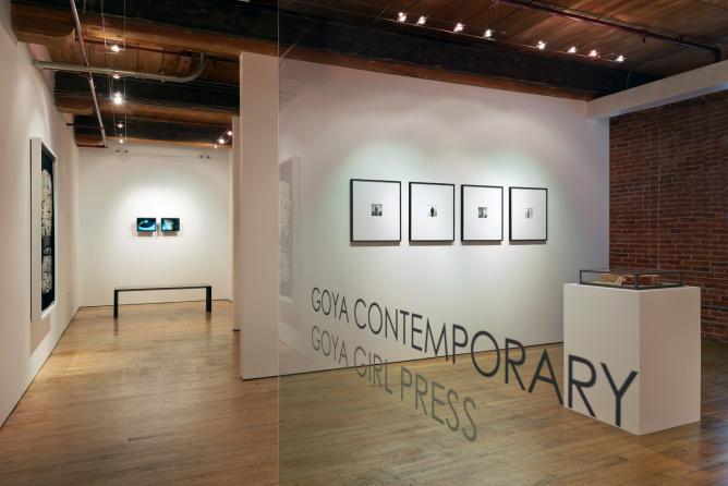 Ann Hamilton installed at Goya Contemporary | Courtesy of Goya Contemporary