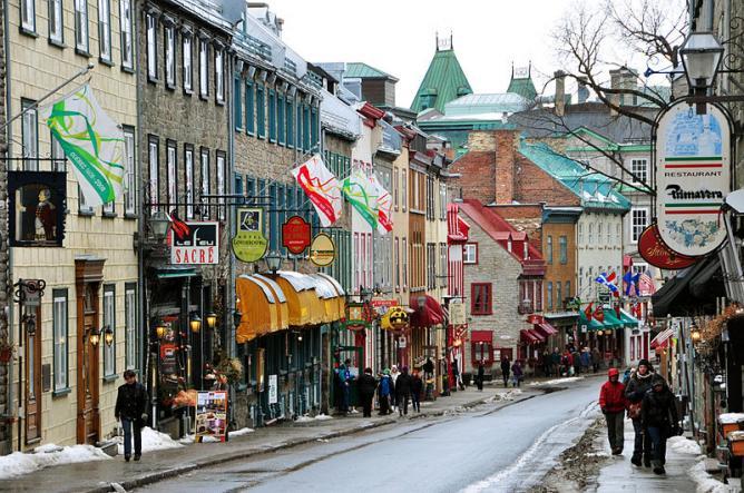 Quebec City Rue St Louis Upper Town winter