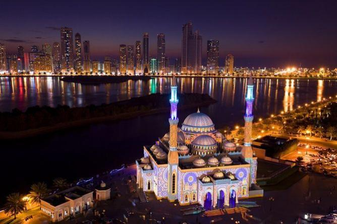 Sharjah Light Festival As Noor Masjid