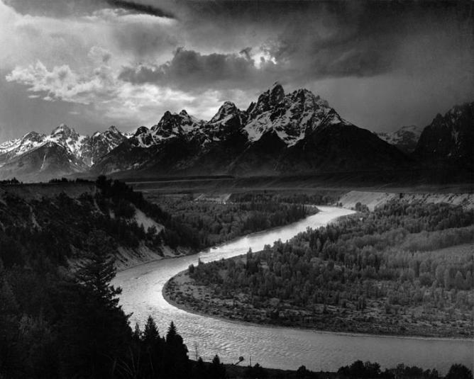 Ansel Adams, The Tetons and the Snake River (1942), Grand Teton National Park, Wyoming. National Archives and Records Administration, Records of the National Park Service