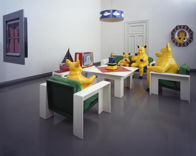 Harro Koskinen, The Pig Family, installation, Turku Art Museum, 1969 | © Vesa Aaltonen, Turku Art Museum