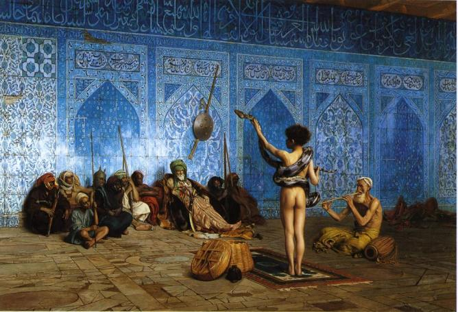 Jean-Leon Gerome's The Snake Charmer (1870), an Orientalist portrayal of pederasty
