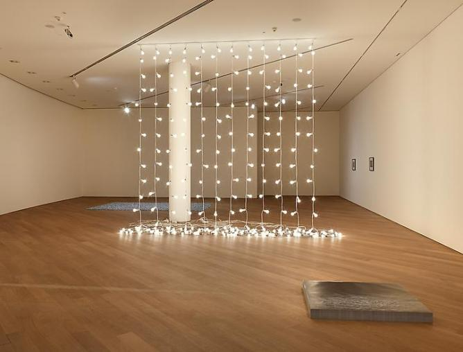 Felix Gonzalez-Torres, 'Untitled' (North), 1993, 15-watt light bulbs, extension cords, porcelain light sockets,Overall dimensions vary with installation, twelve parts: 44 1/2 ft. in length each