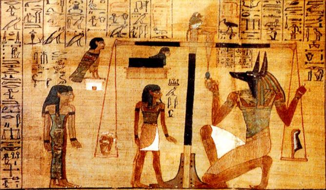 The heart of the deceased is weighed against Maat | © FinnBjo/WikiCommons