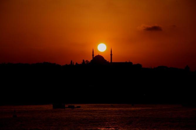 Sunset over the Golden Horn, Istanbul