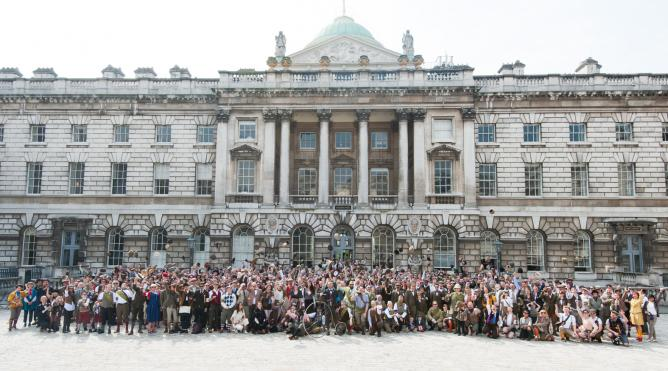 The Tweed Run at Somerset House London