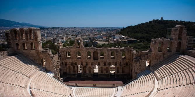Athens cityscape from the Odeon of Herodes Atticus | © Mstyslav Chernov/WikiCommons