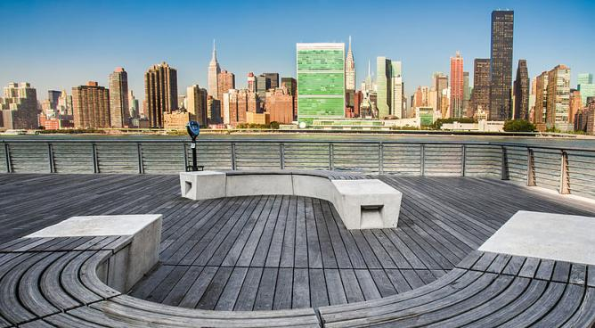 Nice daytime views of New York City from Long Island City