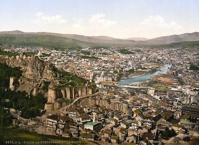 19th-century vintage postcard of Tbilisi.