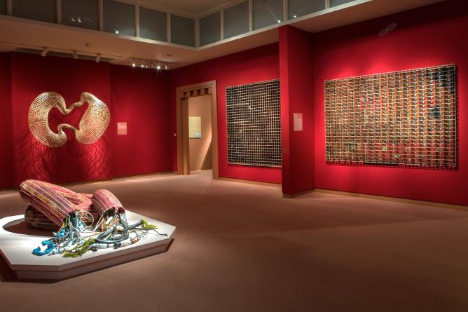 "Sopheap Pich, view of the exhibition ""Cambodian Rattan"""
