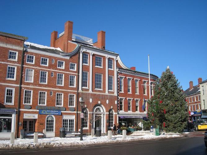 Market Square in Portsmouth, New Hampshire, USA