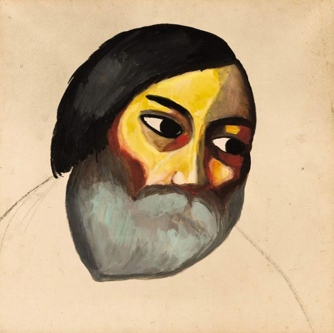 Image Courtesy Sotheby's | © Kazimir Malevich, Head of a Peasant