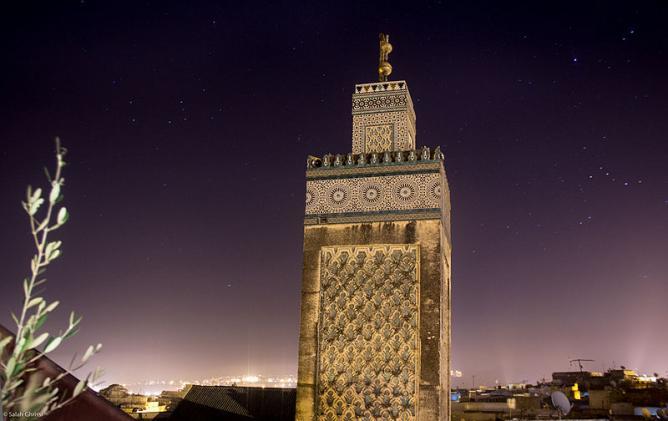 une madrasa édifiée à Fès, au Maroc, entre 1350 et 1355
