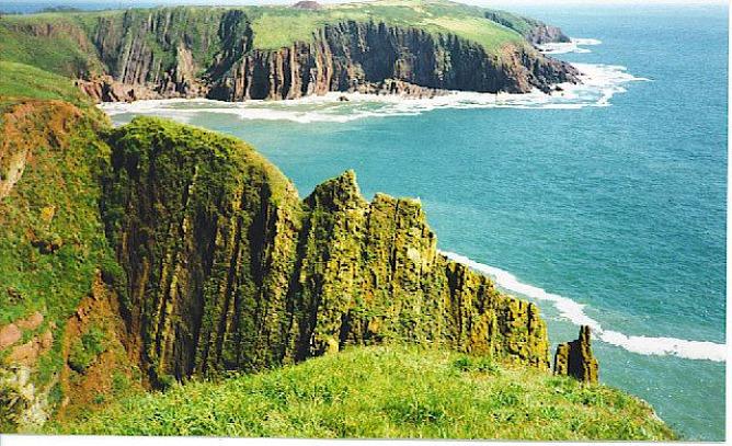 South Coast of Caldey Island