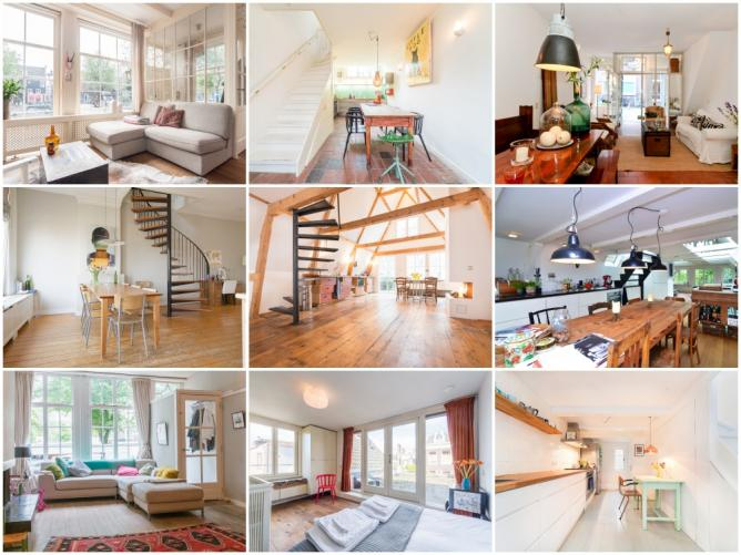 Stunning Airbnb Apartments In Amsterdams Jordaan - An old attic is transformed into a gorgeous apartment