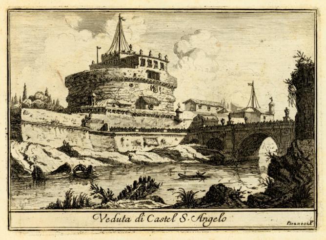 Giovanni Battista Piranesi (Italian, 1720-1778) Veduta di Castel S. Angelo, 1745 Etching