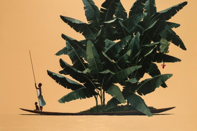 Pedro Ruiz, Herbario, 2013, oil on canvas, 100 x 150 cm