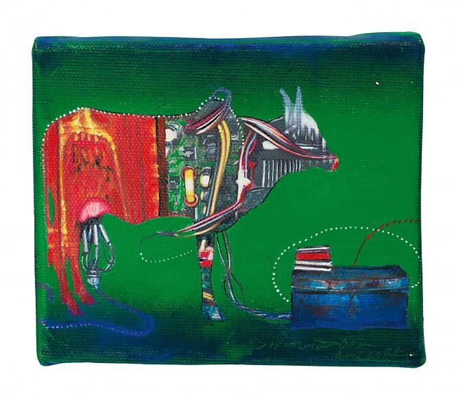 Dharmendra Rathore, India, Untitled, Acrylic on canvas, 2012 | Image Courtesy of Imago Mundi
