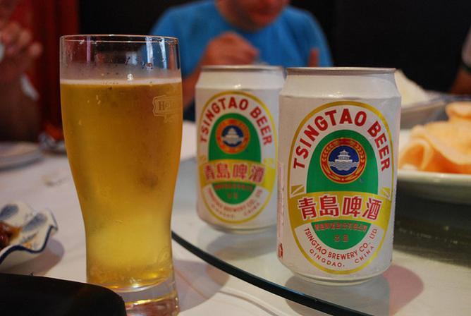 Qingdao's most famous export, Tsingtao Beer
