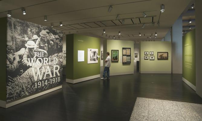 The exhibition The World at War, 1914-1918