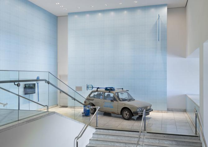 Clarissa Tossin. Brasília, Cars, Pools & Other Modernities, 2009–13 (detail). Made in L.A. 2014. Installation view at the Hammer Museum, Los Angeles. June 15-September 7, 2014. Photo by Brian Forrest