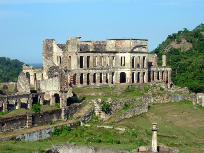The ruins of Sans-Souci Palace