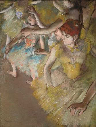 Edgar Degas, Ballet Dancers on the Stage, 1883, pastel on paper | Courtesy Dallas Museum of Art