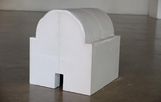 "James Sullivan, Tumulus, 2014, plaster, 24x30x30"""