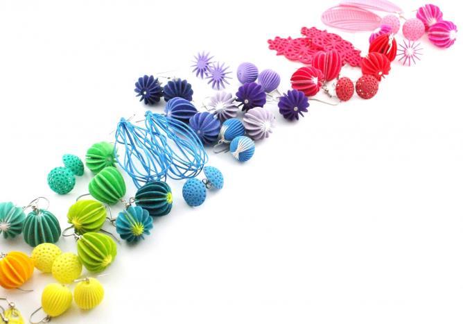 3D Printed Earrings Ear Lollies | © Mutating Creatures