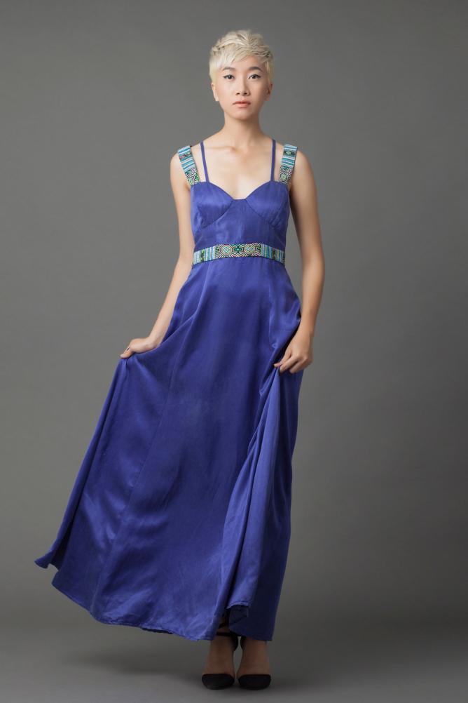Bombay Dress royal blue - Linda Mai Phung