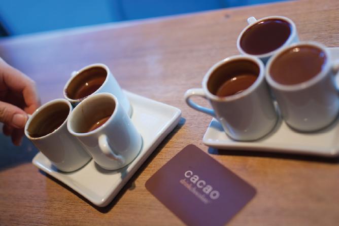 Cacao's flight of three drinking chocolates | © David Avila