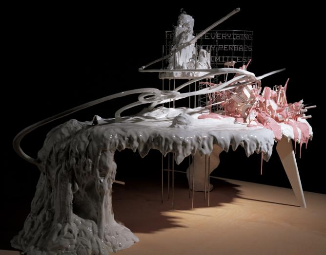 Lee Bul, Maquette for Mon grand recit, 2005 | Courtesy PKM Gallery, Bartleby Bickle & Meursault, Seoul and Ikon Gallery