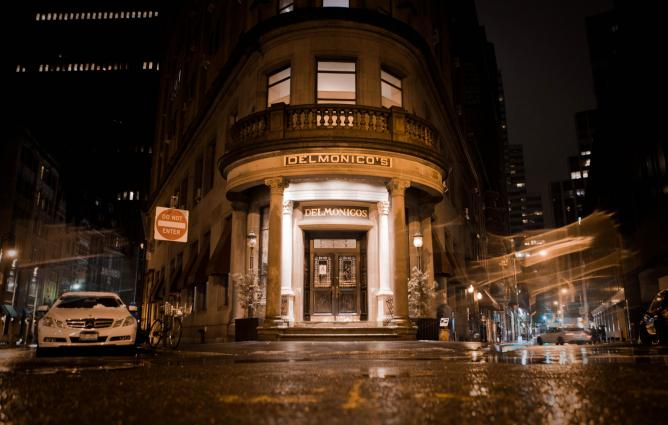 Delmonico Exterior | Courtesy of Delmonico's Restaurant