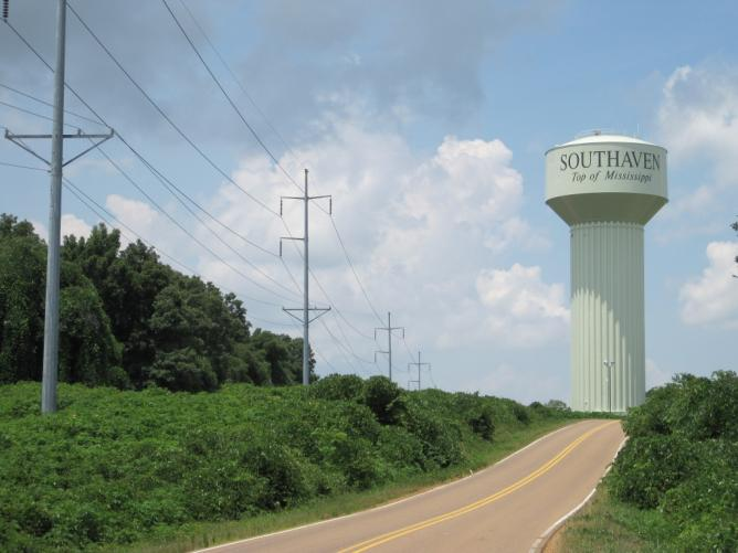 Southaven 'Top of Mississippi' Watertower on Starlanding Road