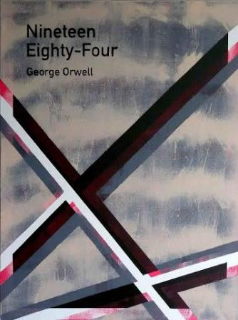 Heman Chong, Nineteen Eighty-Four / George Orwell (5), 2013, painting on canvas, 61 x 46 x 4 cm (24 x 18 x 1½ in) | Courtesy the artist and Rossi & Rossi